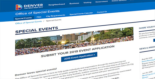 Denver Special Event Permit applications now online